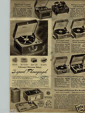 1950 PAPER AD Musical Silvertone Ukelele Accordion Arched Guitar Record Player
