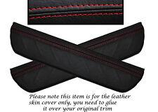 RED STITCH 2X REAR DOOR SILL TRIM SKIN COVERS FITS HONDA CIVIC MK8 06-12
