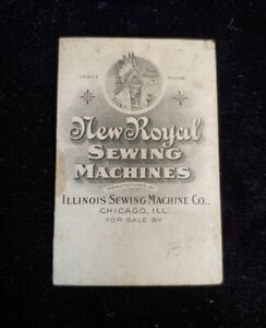 1895 -97 New Royal Sewing Machines No 22 Advertising Needle Book Illinois RARE