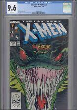 Uncanny X-Men #232 CGC 9.6 1988 Marvel Silvestri Dan- Green Cover-Art: New Frame