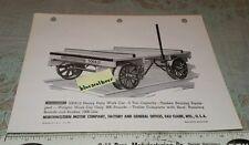 1940's Sales Brochure Northwestern RR Railroad  Motor Work Car Eau Claire WI