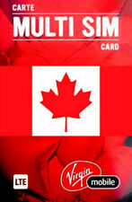Virgin mobile, Canada, New, SIM card. NANO, MICRO or STD size. For Canada.