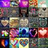 5D DIY Diamond Painting Heart Words Cross Stitch Embroidery Mosaic Home Decor
