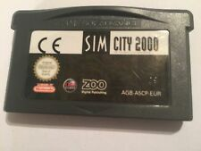 NINTENDO GAMEBOY ADVANCE GBA + SP & Micro GIOCO CARTUCCIA SOLO SIM CITY 2000