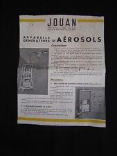 DV2492e JOUAN DOCUMENTATION APPAREIL GENERATEUR AEROSOL