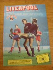 25/02/1987 Football League Cup Semi-Final: Liverpool v Southampton  . Item in ve