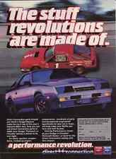 1984 DODGE CHARGER DAYTONA  - JOE VARDE  ~  GREAT PRINT AD