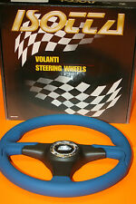Volant Sport Cuir Bleu Modèle Strada 111 A5  MM.350 ISOTTA Made in Italy. NEUF