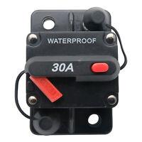 30A AMP Circuit Breaker Dual Battery Manual Reset IP67 W/proof 12V 48 Volt Fuse