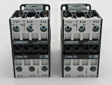 Lot of 2 Good, Omron J7KN-32 Contactors AC 24V UNTESTED -SB1810