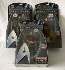 3 Star Trek WARP COLLECTION Action Figure Movie Playmates Toys in Packaging