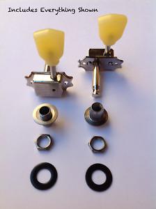 The String Butler - Vintage Adapter Kit 2 (Creme Knobs, Black Washers)