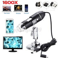 3 in 1 8 LED 1600X Zoom USB Microscope Digital Magnifier Endoscope Camera Video