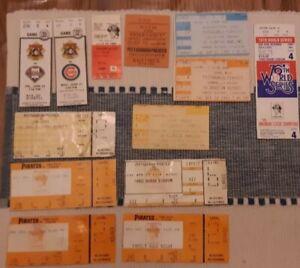 13 Pittsburgh Pirates Vintage Lot Ticket Stubs