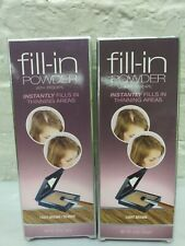 2 Cover Your Gray Fill In Powder For thinning hair light brown / Blonde 24 oz ea