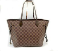 Authentic Louis Vuitton LV Neverfull Damier Ebene MM handbag bag