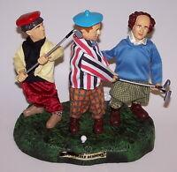 The Three Stooges Animated Golf Scene Statue NIB 2002