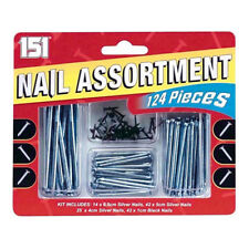Metal Nail Assortment Pack 1cm 4cm 5cm 6.5cm Nails Wood Panel Masonry Set DIY