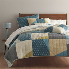 Company Style Handmade Quilt Set Bedspread Shams Multicolor Patchwork Coverlet
