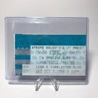 Local H Huntridge Theatre Concert Ticket Stub Las Vegas Nevada October 7 1998