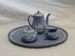 Wedgewood Jasperware Miniature Lavender Tea / Coffee Set