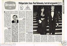 Coupure de presse Clipping 1983 (2 pages) Philippe Labro: Jean Paul Belmondo