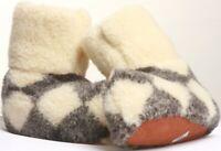 Natural 100% Sheep's Sheepskin Wool Warm Women's Slippers Boots Cozy Foot Indoor