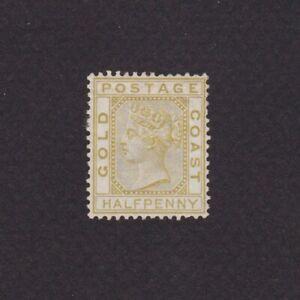 GOLD COAST 1879, Sc# 4, CV $100, Wmk 1, Perf 14, 'Queen Victoria', NG
