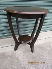 -VINTAGE ROUND VENEER SIDE TABLE - PUO MOSS VALE SOUTHERN HIGHLANDS - GC~
