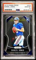 "2019 Daniel Jones Rookie PSA 10 GEM MINT Panini Prizm #302 ""Flawless"" NY Giants"