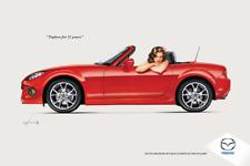 Mazda Miata  25th MX-5 Wall Art Poster Print Playboy Olivia De Berardinis NEW