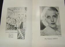 Programme ATHENEE THEATRE LOUIS JOUVET 21.04.1936