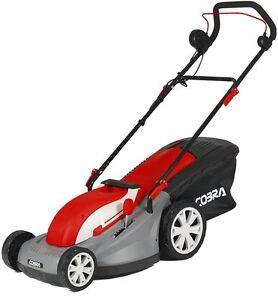 "Cobra 16"" Electric Lawn Mower With Rear Roller GTRM40 1500W Garden Lawnmower"