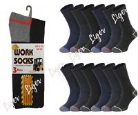 6 Pairs Mens Work Socks Workwear Reinforced Cushion Sole Boot Socks Size 6-11