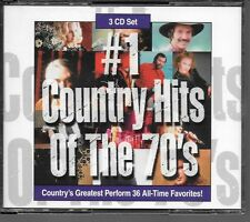 COFFRET 3 CD COMPIL 36 TITRES--COUNTRY HITS OF THE 70'S--ROBBINS/JONES/JAMES...