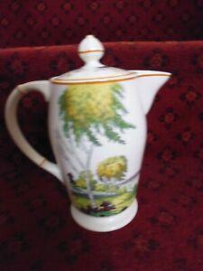 Spode Silver Birch Art Deco Coffee Pot good condition