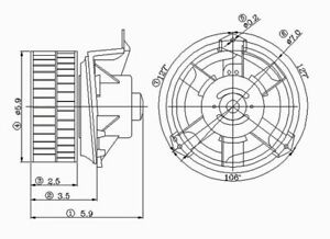 HVAC Blower Motor Front TYC 700070