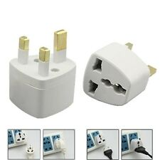 All UK To EU Euro Europe European Travel Adapter Power Plug Convert 3-2 Pin