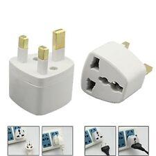 All UK To EU Euro Europe European Travel Adapter Power Plug Convert 3-2 Pin