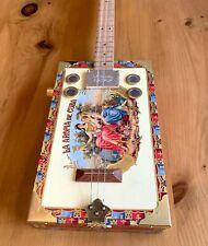 Cigar Box Guitar La Aramo 3 String Electro Acoustic Volume Flatpup Pick Up