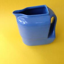 Hall China Co. Blue Westinghouse Water Pitcher.