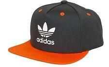 Adidas Originals FLAT Orlo Snap Back Cappellino cappello uomo donna Una Taglia Nero