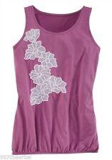 Geblümte locker sitzende ärmellose Damenblusen, - tops & -shirts aus Polyester