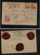 Nerherlands  Indies   registered cover to Austria   wax  seals          KL0715