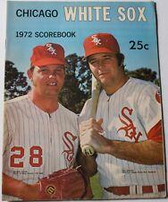 1972 Chicago White Sox - Baltimore Orioles Program Bill Melton Wilbur Wood Cover