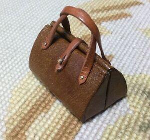 Pat Tyler Dollhouse Miniature Leather Purse Bag Luggage Valise Gatsby p582
