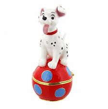 Disney Dalmation Puppy Hinged Metal Die Cast Trinket Box Figurine DI343 RRP£25