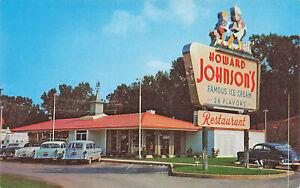 Charlotte NC Howard Johnson's Ice Cream Restaurant Postcard