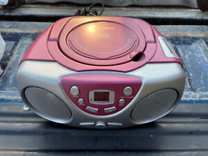 Sylvania SRCD243PL Pink CD Boombox AM/FM Radio