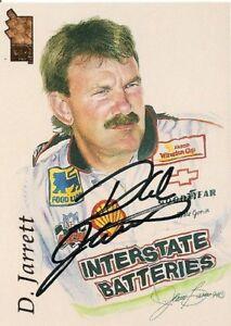 Dale Jarrett PRESS PASS VIP PORTRAITS 1994 HOFer signed card *FREE SHIPPING*